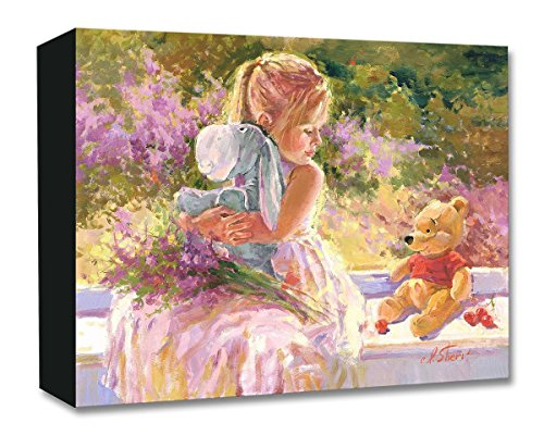 Disney Fine Art Sunny Window by Irene Sheri Treasures on Canvas Winnie The Pooh Eeyore 12 Inches x 15 Inches Reproduction Gallery Wrapped Canvas Wall Art