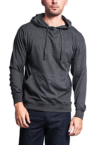 G-Style USA Cross-Dyed Heather Jersey Pullover Hoodie MH13104 - CHARCOAL - 2X-Large - R1B (Hoodie Sweatshirt Mens Cross)