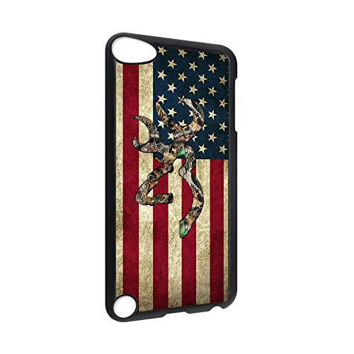 (Browning Deer Camo American Flag for iPod Touch 5 Case(Hard Plastic))