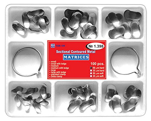 Dental Set of Sectional Contoured Matrices Matrix 100 pcs. (50 m, hard) TOR VM
