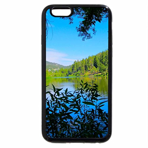 iPhone 6S Case, iPhone 6 Case (Black & White) - Jackson Lake View Through the Forest.