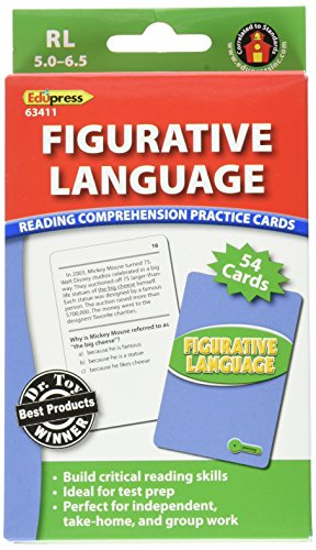 Edupress Reading Comprehension Practice Cards, Figurative Language, Green Level (EP63411)