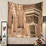 Lee S. Jones Custom tapestry a decorated pillar in the alhambra near granada spain