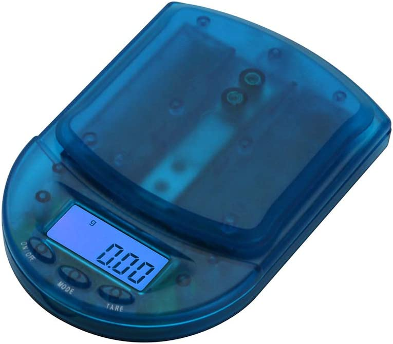 AMERICAN WEIGH SCALES BCM Series Digital Pocket Weight Scale, Clear Blue, 100G x 0.01G BCM-100-CB