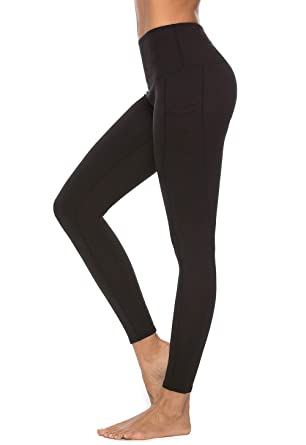 3ac55de696 Amazon.com: Mint Lilac Women's High Waist Tummy Control Yoga Pants Full-Length  Workout Leggings: Clothing