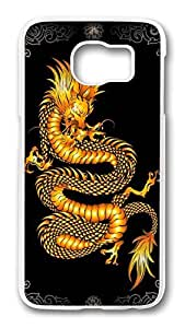 Brian114 Case, S6 Case, Samsung Galaxy S6 Case Cover, China Dragon Oriental Style 9 Retro Protective Hard PC Back Case for S6 ( white )