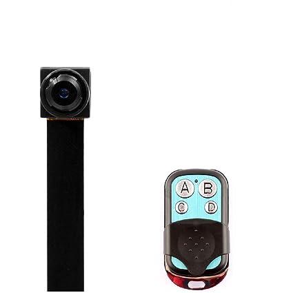 PANNOVO Mini Cámara espía 1080P grabadora de vídeo Oculta cámara de Seguridad con Control Remoto de