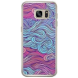 Loud Universe Samsung Galaxy S7 Edge Hair Hair 25 Printed Transparent Edge Case - Multi Color