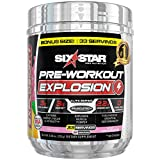 Six Star Explosion Pre Workout, Powerful Pre Workout Powder with Extreme Energy, Focus and Intensity, Pink Lemonade, 33 Servings
