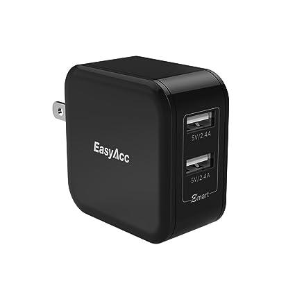 Amazon.com: EasyAcc 2 puertos cargador de pared, Negro ...