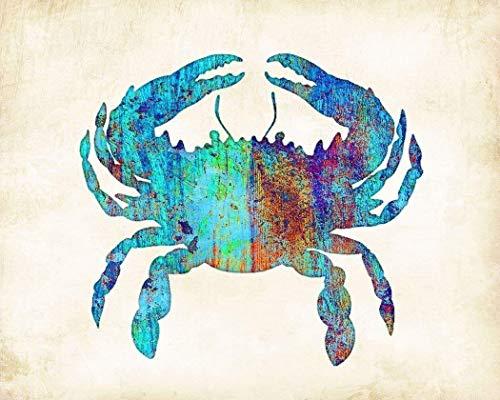 Watercolor Blue Crab Art Print by Dan Morris