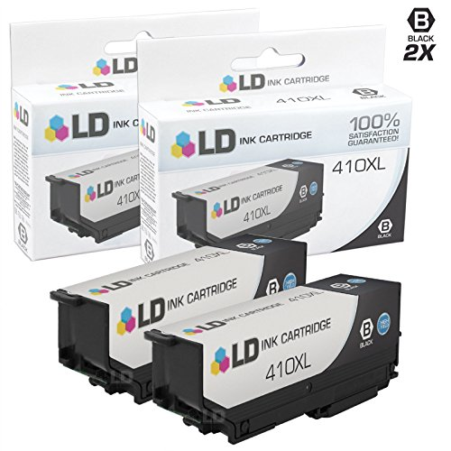 - LD Remanufactured Ink Cartridge Replacement for Epson 410 410XL High Yield (Black, 2-Pack)