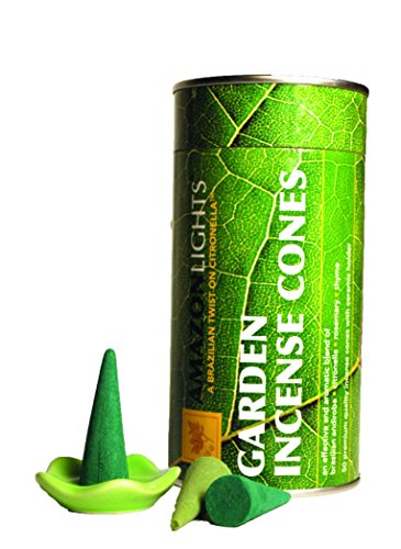Amazon-Lights-New-All-Natural-Insect-Repellent-Outdoor-Garden-Incense-Cones-Set-of-50-Cones-with-Ceramic-Burning-Dish