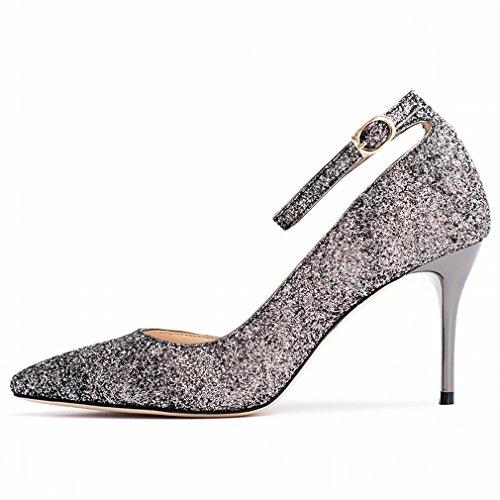 Zapatos de Tacón Alto con Tacones de Aguja Finos J