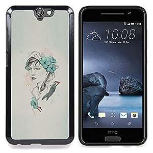 """Qstar Arte & diseño plástico duro Fundas Cover Cubre Hard Case Cover para HTC One A9 (Arte pop Carpintero"""")"""