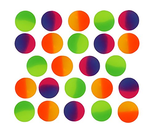 Icy Super Balls - 32mm Vibrant Two Tone Color Bouncy Balls 24 pack -