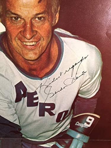 aff3e34be Image Unavailable. Image not available for. Color: 1973 GORDIE HOWE Family  Auto Autographed WHA Hockey ...