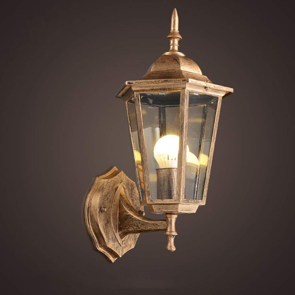 Esterno impermeabile Lampada da parete, balcone corridoio corridoio Lampada da parete retro patio all'aperto Illuminazione decorazione Lampada da parete a testa singola E27, 17  37cm selezi