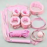 OrangeTag Secret Under Bed System---easy Fashion Pink Bondage Kit Leather Restraints for Couple Lover Adult (Pink)