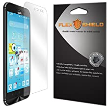 FlexShield [5-Pack] - Asus ZenFone Zoom Screen Protector with Lifetime Replacement Warranty - Ultra Clear Japanese PET Film - Bubble-Free HD Clarity with Anti-Fingerprint & Scratch Resistance