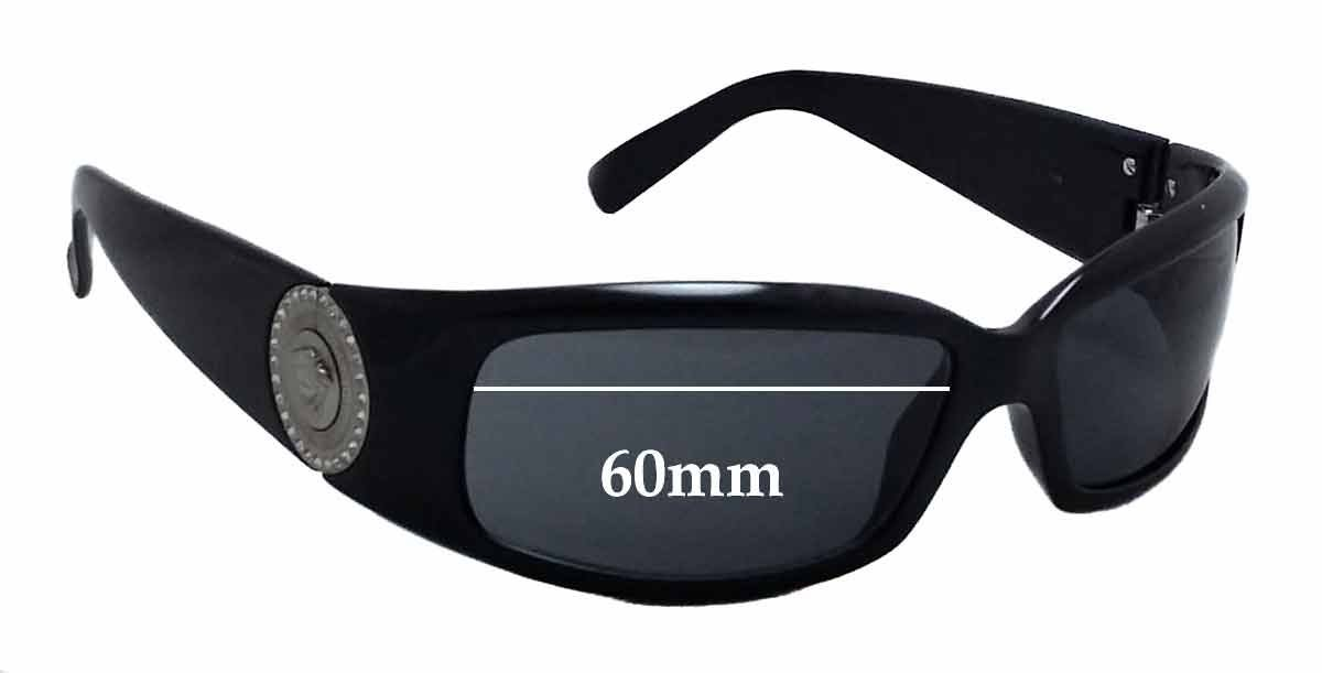 a5fe40e8d4 Amazon.com  SFx Replacement Sunglass Lenses fits Versace VE 4044B 60mm wide  (Polycarbonate Clear Hardcoat Pair-Regular)  Clothing