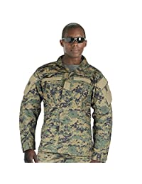 ACU Style Woodland Digital Camo Military Uniform Shirt, MARPAT