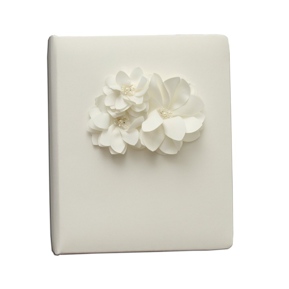 Ivy Lane Design Wedding Accessories Memory Book, Water Lily, Ivory