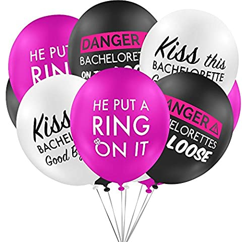 Bachelorette Party Decorations, Balloons for Themed Parties, Supplies for Favors Bags (15 Count Value Pack) Premium Quality 12