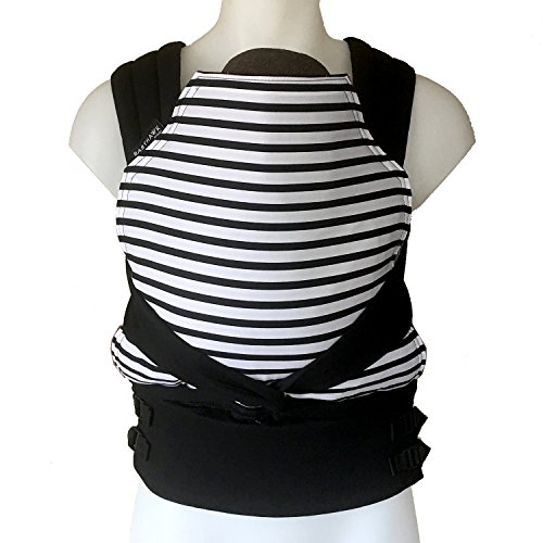 BabyHawk by Moby Baby Carrier for Newborns + Toddlers - Buckle Tie Version - Seriously Striped Black