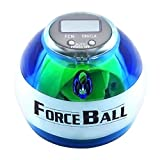 LED Powerball Gyroscope Wrist Ball -Wrist & Forearms Exerciser Arm Strengthener Gyro Ball Featuring Digital LCD Counter -Blue