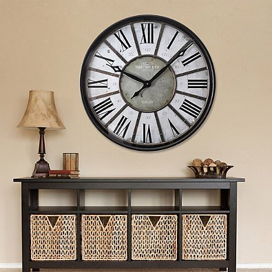 Wall Clock Metalcraft Large Size Makes It Easy To View in Bronze