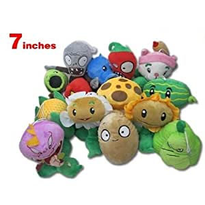Plants Vs Zombies 7 inches Plush set of 14