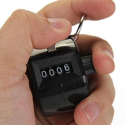 Contador mec/ánico de 4 d/ígitos para cabina de pasajeros Mttheaw contador manual color negro 1