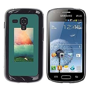 Caucho caso de Shell duro de la cubierta de accesorios de protección BY RAYDREAMMM - Samsung Galaxy S Duos S7562 - Text Motivational Quote