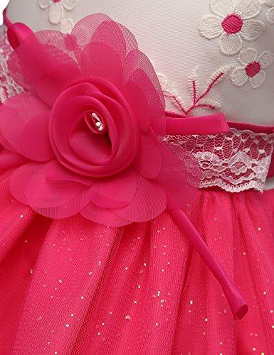 Dal Fiore Vestito Rosa Maniche Ragazza Nnjxd Tutu Senza Partito Nozze Rossa Di wBRpnS5qW