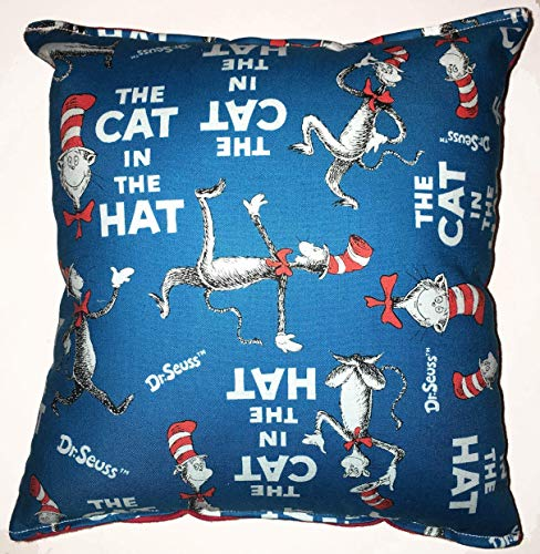 Cat in the Hat Pillow The Cat In The Hat Pillow Dr. Seuss Pillow HANDMADE in USA NEW Pillow is approximately 10