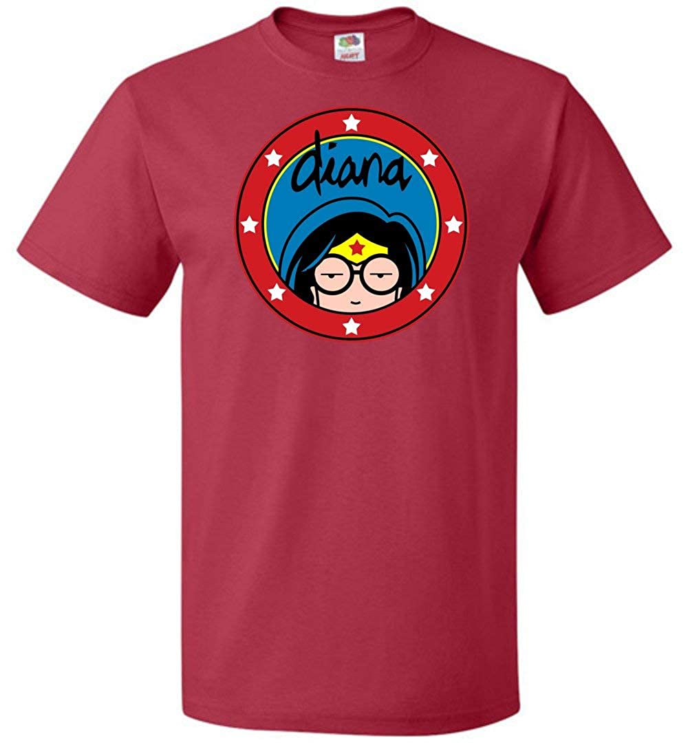 Diana Unisex T-Shirt Adult Pop Culture Graphic Tee Nerdy Geeky Apparel