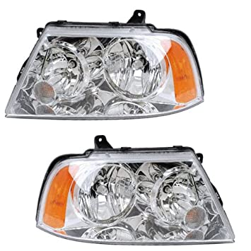 Amazon 2003 2004 2005 2006 lincoln navigator headlight headlamp 2003 2004 2005 2006 lincoln navigator headlight headlamp clear lens halogen type front sciox Gallery