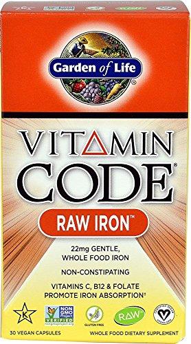 Garden of Life Vitamin Code Raw Iron, 30 Capsules 2 Pack
