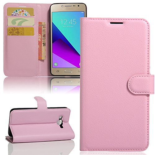 Galaxy J2 Prime G532 Case , Galaxy Grand Prime Plus Case , Luxury PU Leather Flip Stand Wallet Case With Card Slot Back Cover For Samsung J2 Prime SM-G532M Duos ()