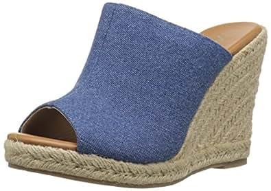 Athena Alexander Women's Marlowe Espadrille Wedge Sandal, Denim, 8 M US