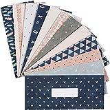 12Pack, Cash Envelopes, Budget Envelopes, Reusable Budget Envelopes for Travel and Saving Money Budget Keeper, Cash Organizer Envelopes Wallet System Budget Finance Keeper