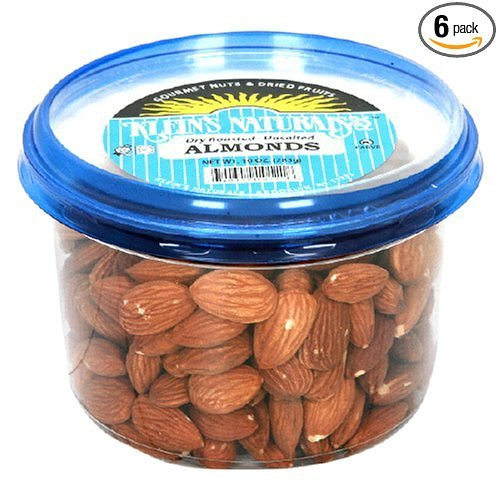 Klein's Naturals Almonds, Dry, Roasted, Unsalted, Shelled, (Pack of 6)