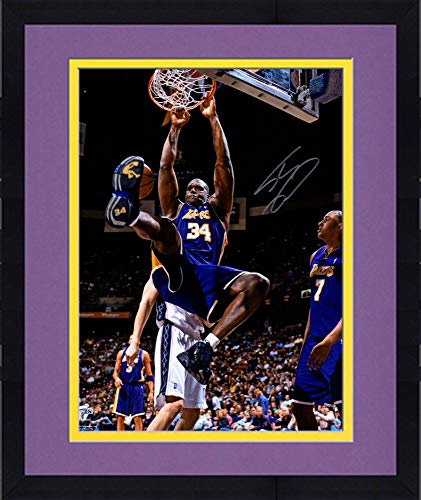 Framed Shaquille O'Neal Los Angeles Lakers Autographed 16'' x 20'' Monster Dunk Photograph - Fanatics Authentic Certified