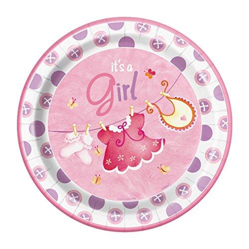 Pink Clothesline Shower Dinner Plates