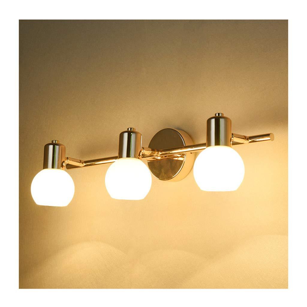 &Badezimmerbeleuchtung Spiegel Scheinwerfer, Ankleidezimmer Lampen, Badezimmer Feuchtigkeitsfest und Anti-Fog Spiegel Kabinett Lichter Licht (Größe   Three heads)