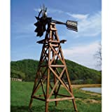 Outdoor Water Solutions Deluxe Wooden Aeration Windmill