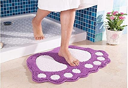 Tappeti Da Bagno Grandi Dimensioni : Tappeto bagno antiscivolo super acqua assorbire grandi piedi a forma