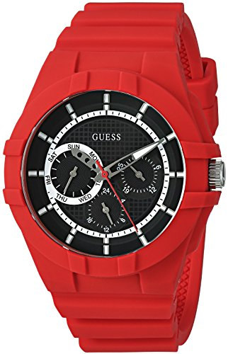 GUESS Silicone Casual Watch Color