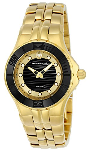Technomarine Women's 'Cruise' Quartz and Stainless Steel Casual Watch, Color:Gold-Toned (Model: TM-115397)